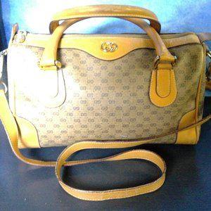 Vintage Gucci Africa Mignon Pattern Handbag